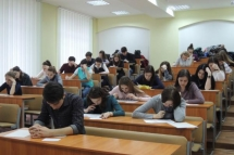 mari students in class